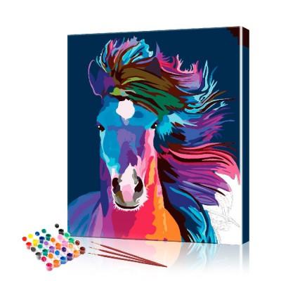 Картина по номерам Красочный конь ArtSale размер 40х50 см