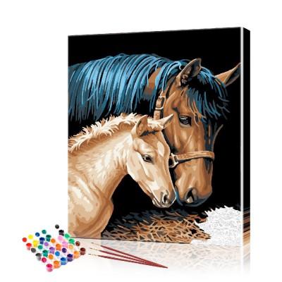 Картина по номерам Пара лошадей ArtSale размер 40х50 см