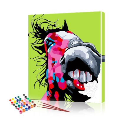 Картина по номерам Смешная лошадь ArtSale размер 40х50 см