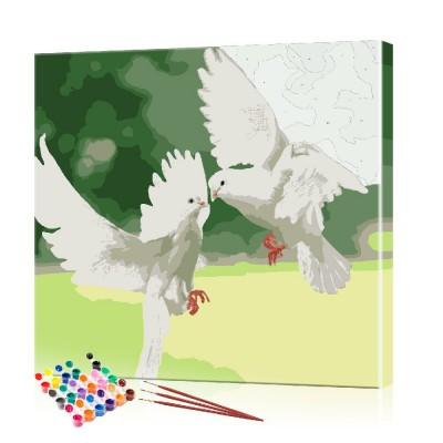 Картина по номерам Пара голубей ArtSale размер 30х30 см