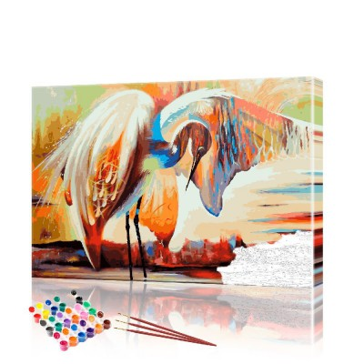 Картина по номерам Журавль ArtSale размер 40х60 см
