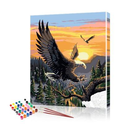 Картина по номерам Орёл ArtSale размер 40х50 см