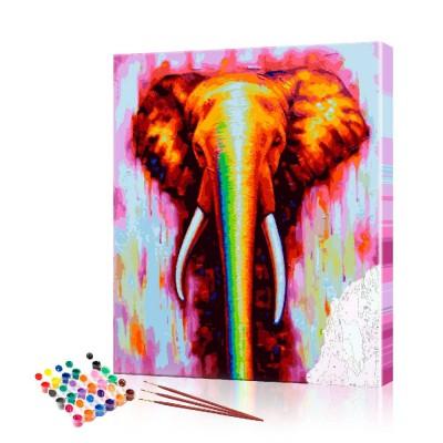 Картина по номерам Радужный слон ArtSale размер 40х60 см