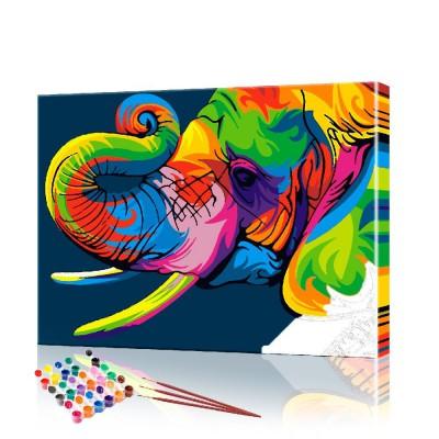 Картина по номерам Радужный слон ArtSale размер 40х50 см