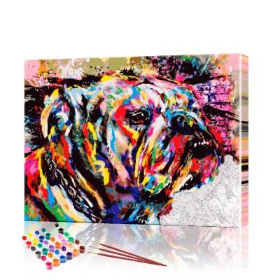 Картина по номерам Бульдог ArtSale размер 30х40 см