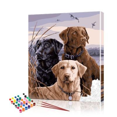 Картина по номерам Спаниели на охоте ArtSale размер 40х50 см