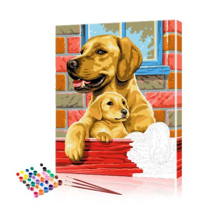 Картина по номерам Лабрадоры ArtSale размер 40х50 см