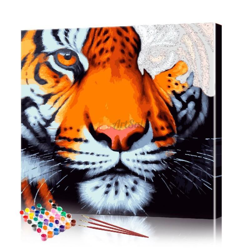 Картина по номерам Тигр ArtSale размер 30х30 см