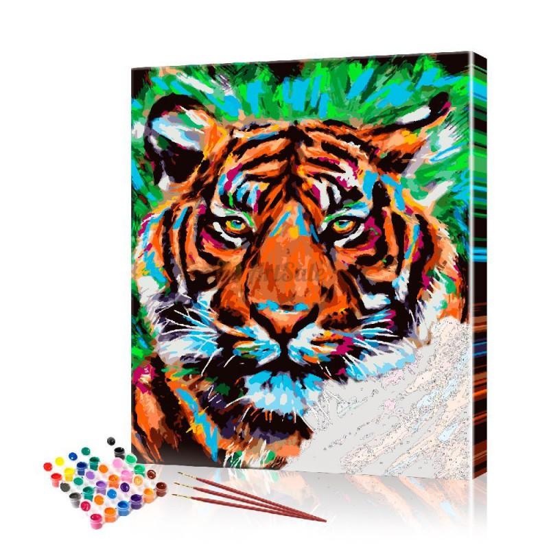 Картина по номерам Тигр ArtSale размер 30х40 см