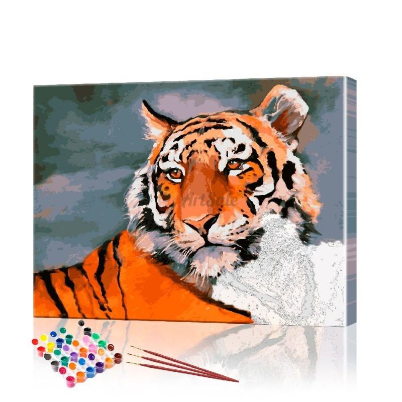 Картина по номерам Тигр ArtSale размер 40х50 см