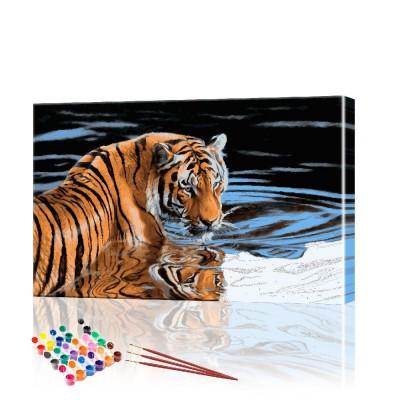 Картина по номерам Тигр ArtSale размер 40х60 см