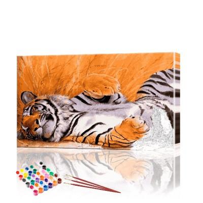 Картина по номерам Тигр ArtSale размер 40х70 см