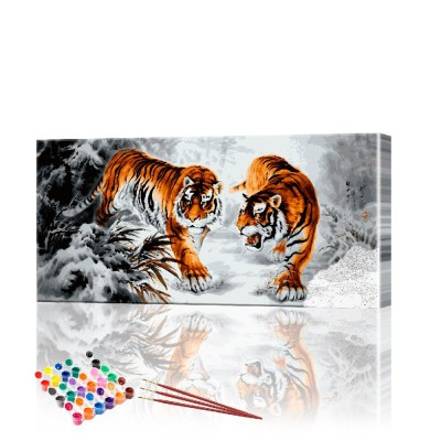 Картина по номерам Тигр ArtSale размер 40х90 см