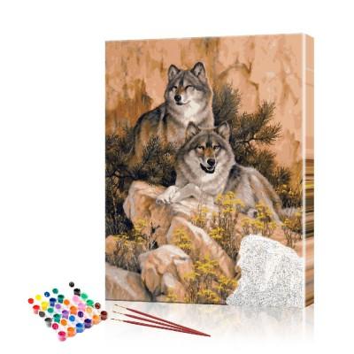 Картина по номерам Горные волки ArtSale размер 40х60 см