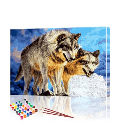 Картина по номерам Волки на охоте ArtSale размер 40х60 см