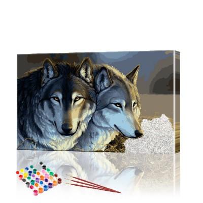 Картина по номерам Волки ArtSale размер 40х70 см
