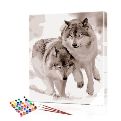 Картина по номерам Пара волков ArtSale размер 40х50 см