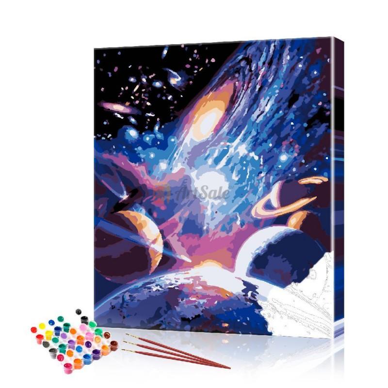 Картина по номерам Космос ArtSale размер 40х50 см