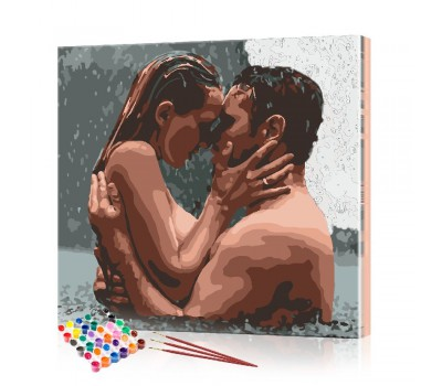 Картина по номерам Влюбленная пара ArtSale размер 40х40 см