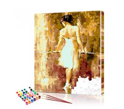 Картина по номерам Балерина ArtSale размер 40х50 см