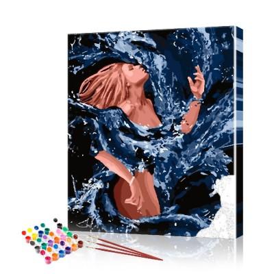 Картина по номерам Девушка ArtSale размер 40х50 см