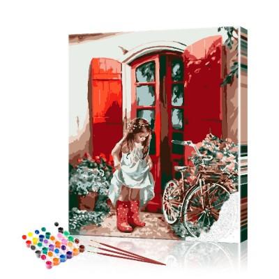 Картина по номерам Девочка ArtSale размер 40х50 см