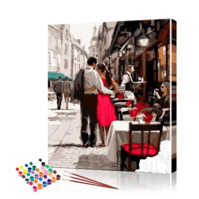 Картина по номерам Влюблённая пара ArtSale размер 40х50 см