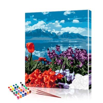 Картина по номерам Горы ArtSale размер 40х50 см