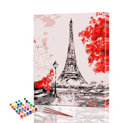 Картина по номерам Париж размер 30х40 см