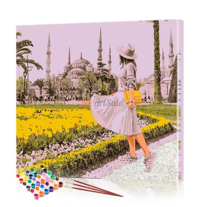 Картина по номерам Городской пейзаж ArtSale размер 40х40 см