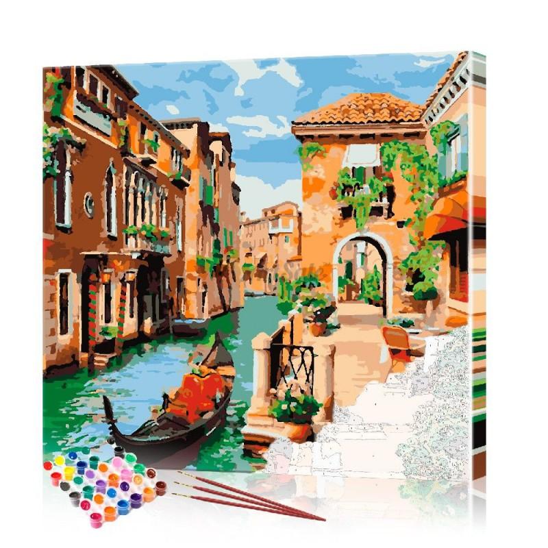 Картина по номерам Венеция ArtSale размер 40х40 см