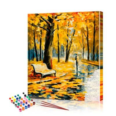 Картина по номерам Осенний парк ArtSale размер 40х50 см
