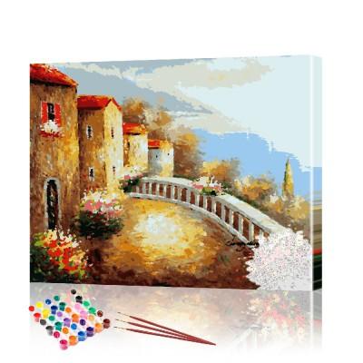 Картина по номерам Италия ArtSale размер 40х50 см