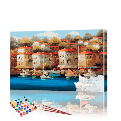 Картина по номерам Италия ArtSale размер 40х60 см