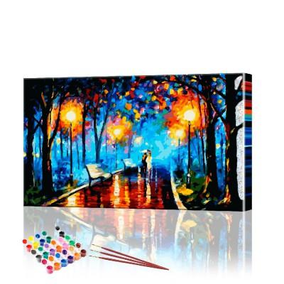 Картина по номерам Городской пейзаж ArtSale размер 40х70 см