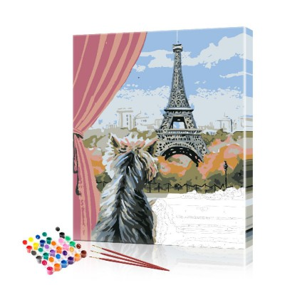 Картина по номерам Париж размер 40х50 см