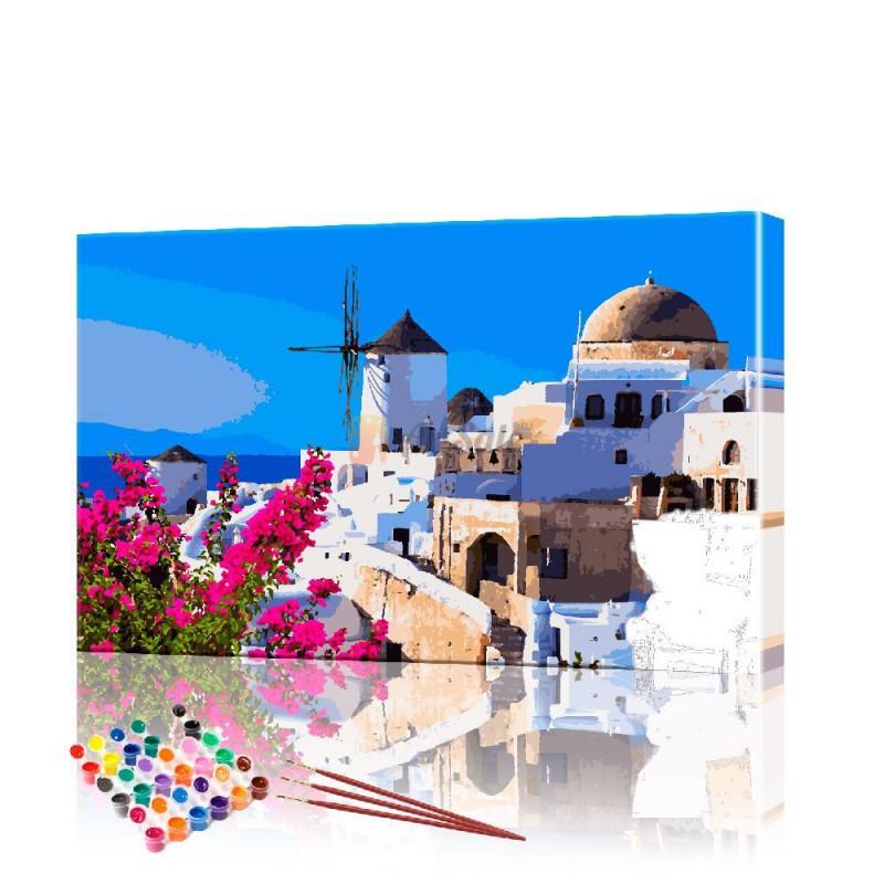 Картина по номерам Греция ArtSale размер 40х60 см