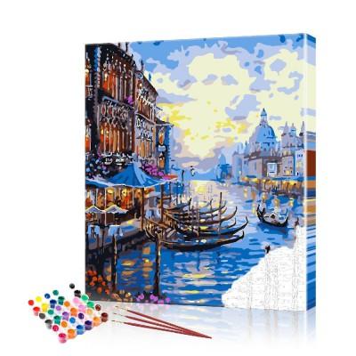 Картина по номерам Венеция ArtSale размер 40х50 см