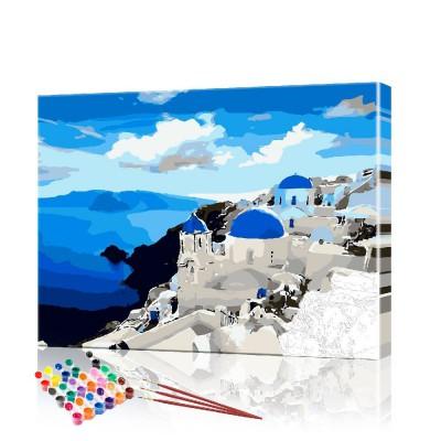 Картина по номерам Греция ArtSale размер 40х50 см