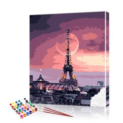 Картина по номерам Эйфелева башня ArtSale размер 40х50 см
