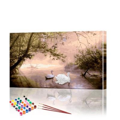 Картина по номерам Лесной пейзаж ArtSale размер 40х70 см