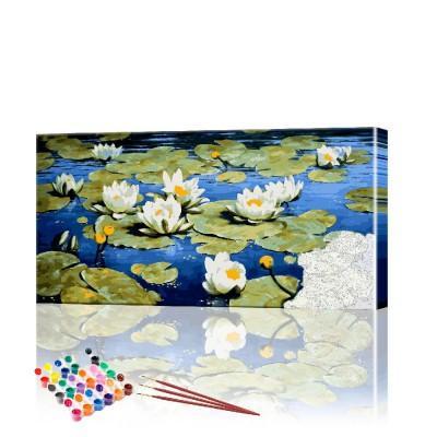 Картина по номерам Лесной пейзаж ArtSale размер 40х90 см