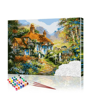 Картина по номерам Лесной пейзаж ArtSale размер 40х50 см