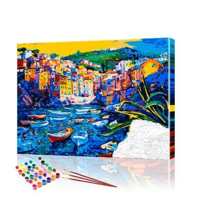 Картина по номерам Морской пейзаж ArtSale размер 40х50 см