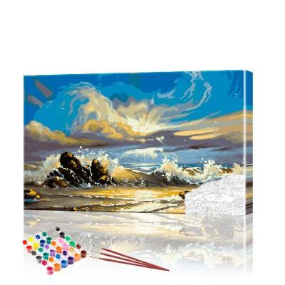 Картина по номерам Морской пейзаж ArtSale размер 40х60 см