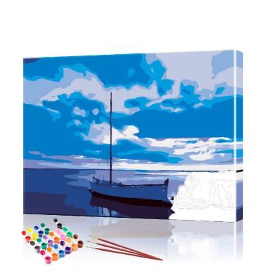 Картина по номерам Парусник ArtSale размер 40х50 см