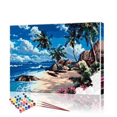 Картина по номерам Пальмы ArtSale размер 40х50 см