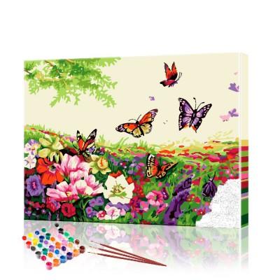 Картина по номерам Бабочки ArtSale размер 40х50 см