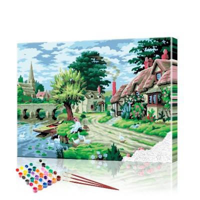 Картины по номерам Сельский пейзаж ArtSale размер 40х50 см