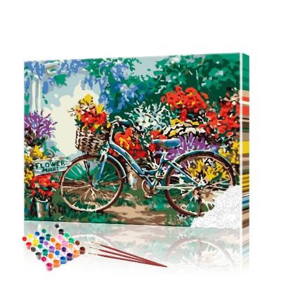 Картины по номерам Велосипед ArtSale размер 40х50 см
